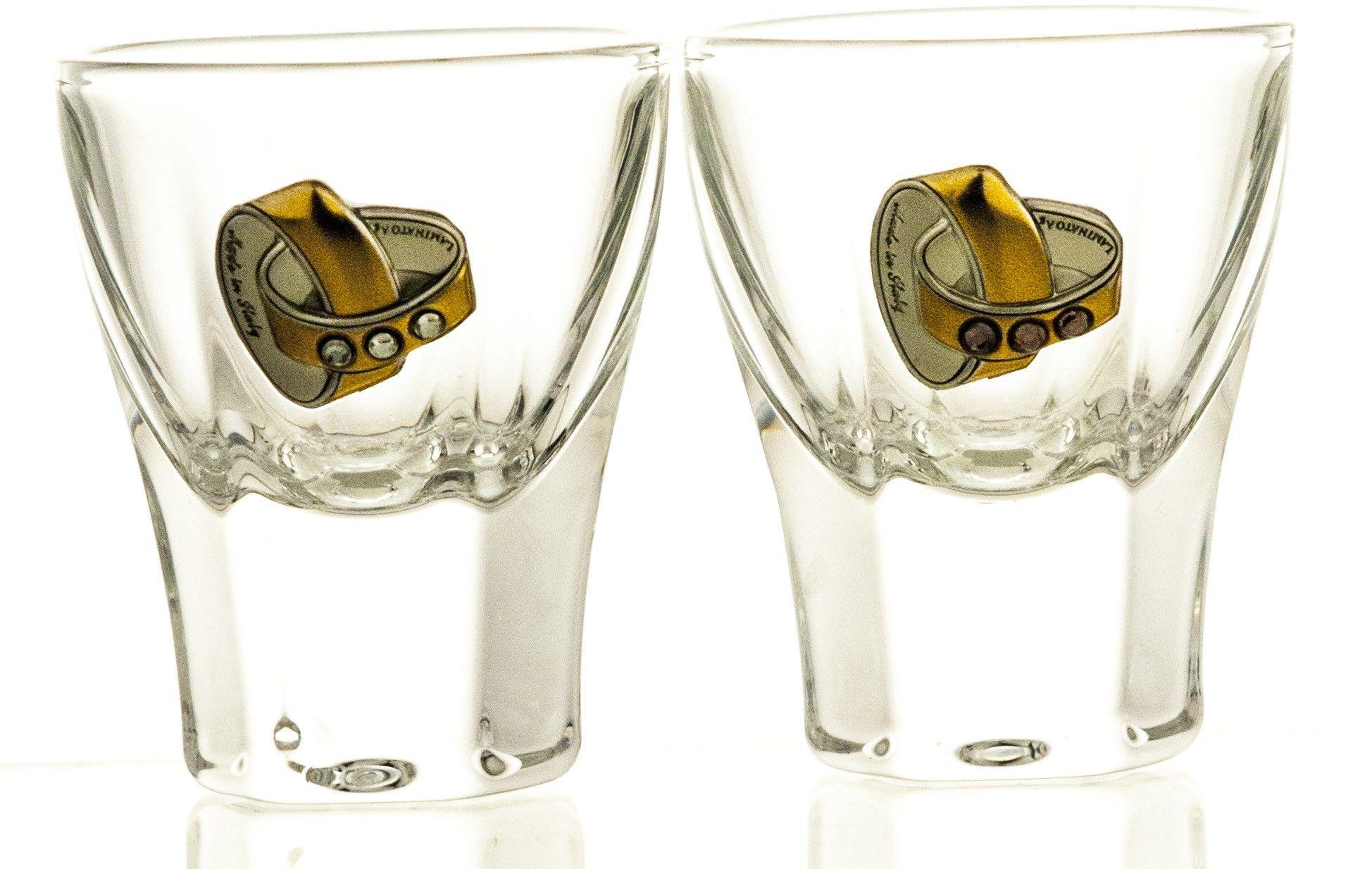 Kieliszki ślubne kryształowe do wódki 2 sztuki (04566)