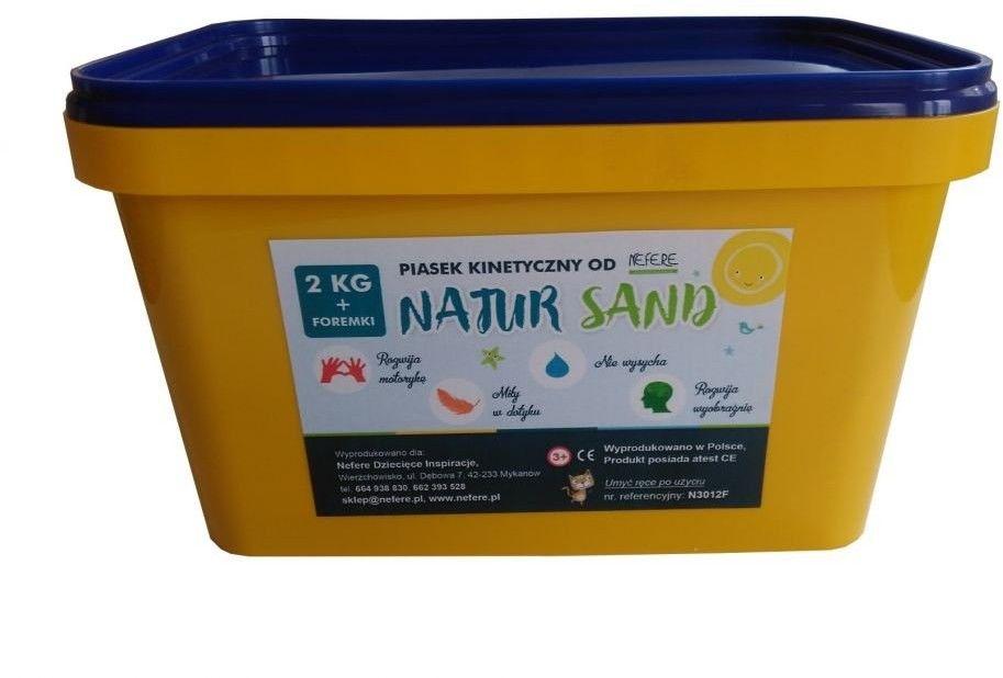 Piasek kinetyczny 2 kg NaturSand z foremkami - polski piasek