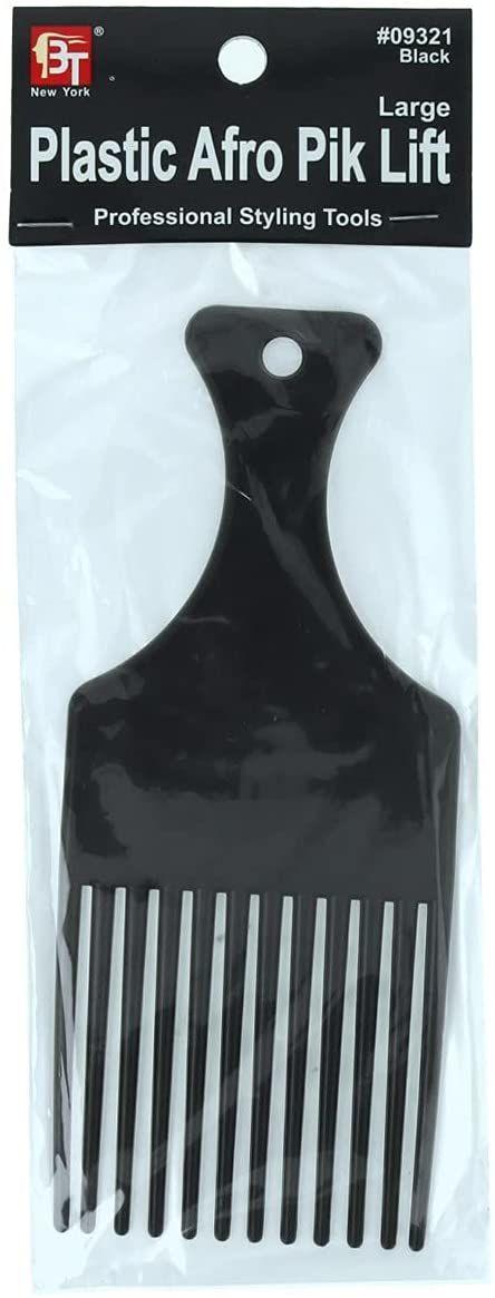 Beauty Town Profesjonalny grzebień z tworzywa sztucznego, długi, czarny (09321), 21 g