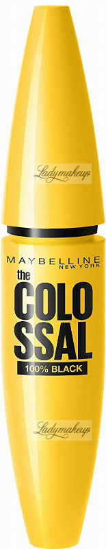 MAYBELLINE - The COLOSSAL 100% BLACK - Pogrubiający tusz do rzęs - 02 EXTRA BLACK