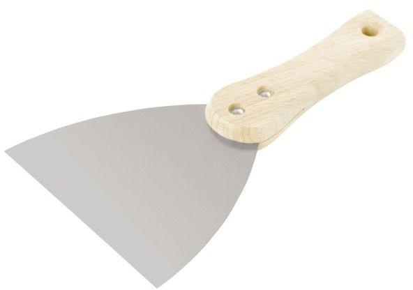 Szpachelka nierdzewna Comensal z drewnianym uchwytem 150 mm