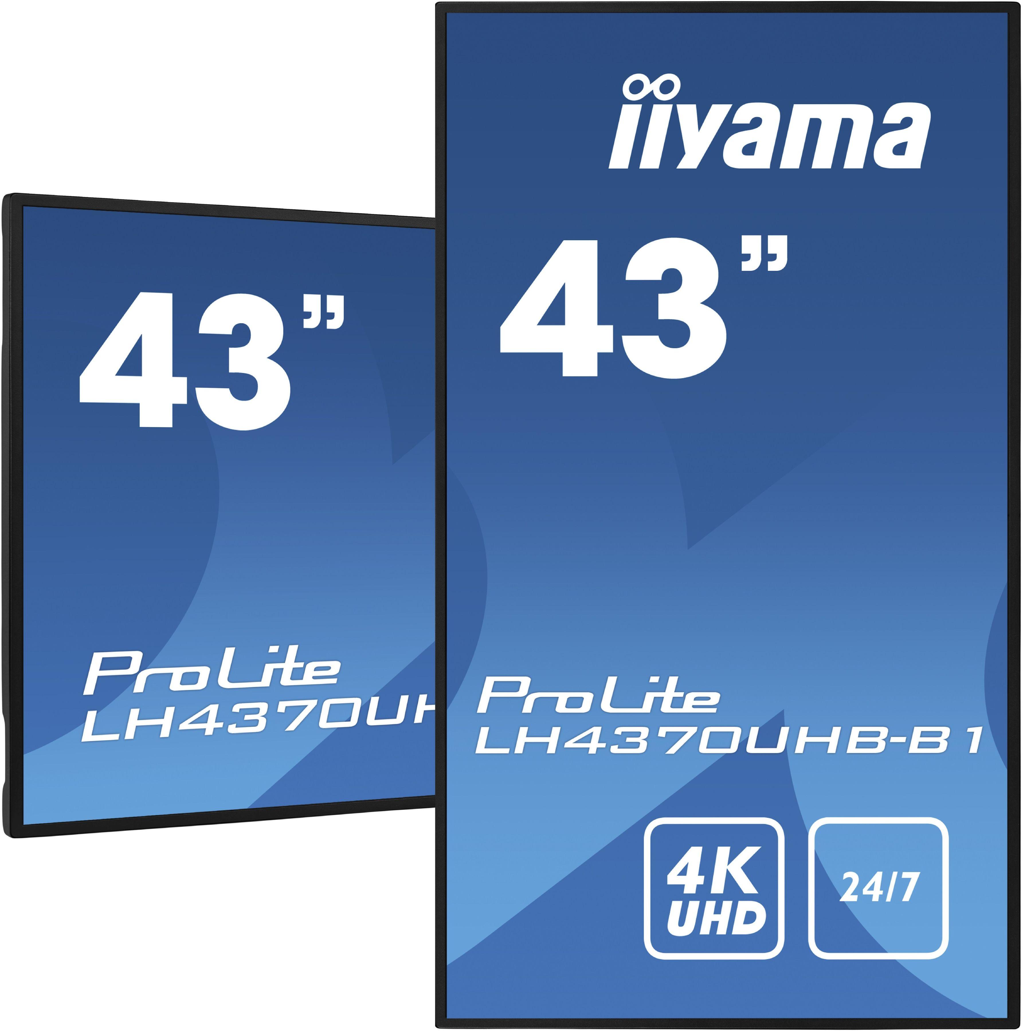 """iiyama LH4370UHB-B1 43"""" profesjonalny wyświetlacz Digital Signage 4K UHD, wysoką jasnością 700cd/m  i czasem pracy 24/7 + WYSYŁKA W 24H GRATIS !! AUTORYZOWANY SKLEP IIYAMA"""