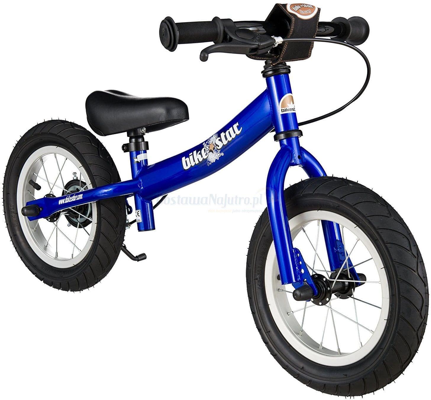 """Rowerek biegowy 12"""" XL BIKESTAR GERMANY sport niebieski"""