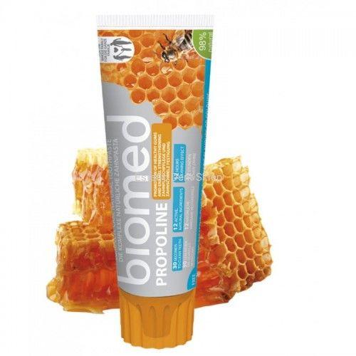 Splat BIOMED PROPOLINE - łagodząca pasta z olejkami eterycznymi i propolisem przeciwdziała stanom zapalnym dziąseł 100g
