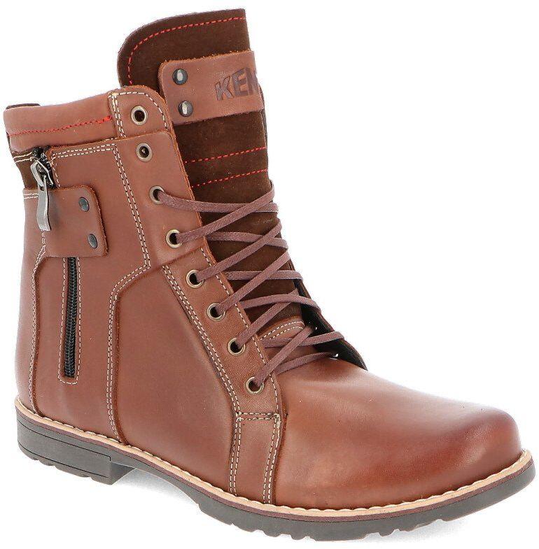KENT 237 BRĄZ - Męskie buty zimowe skóra - Brązowy