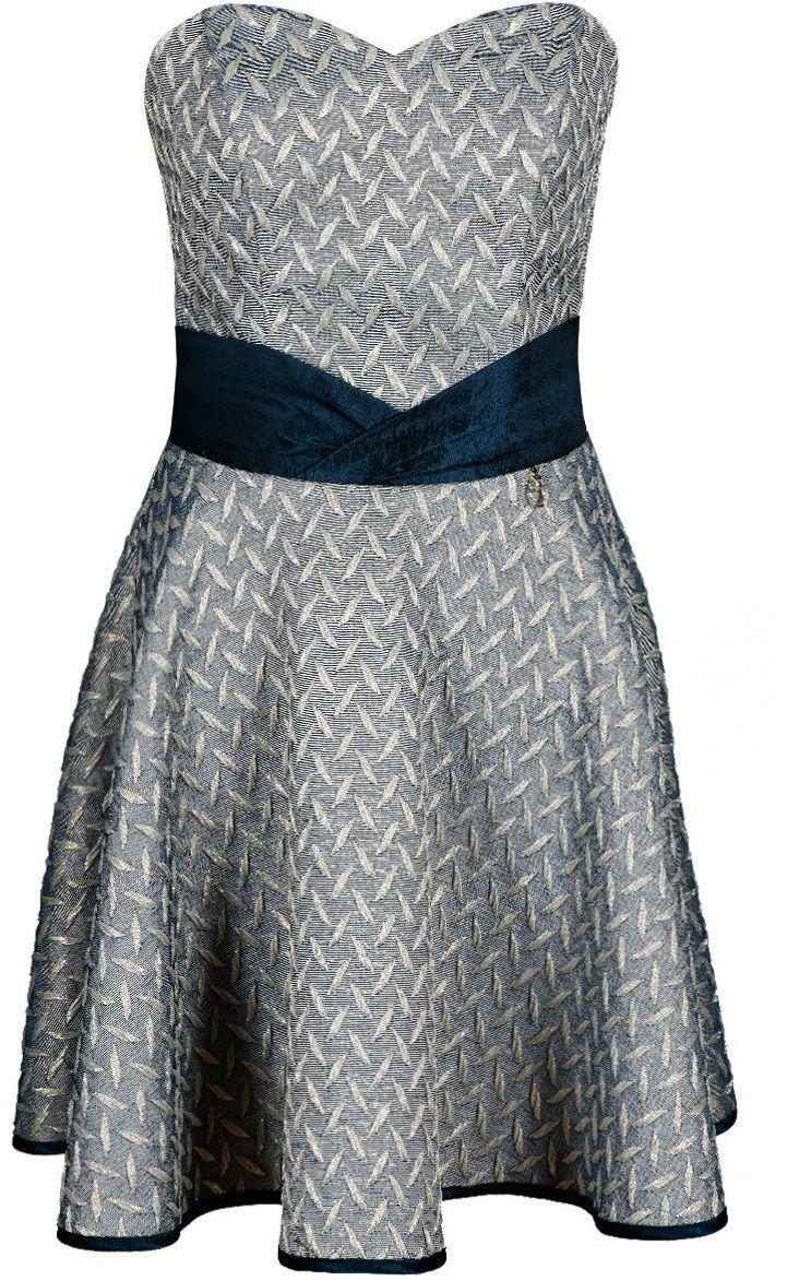 Sukienka FSU660 GRANATOWY + ZŁOTY
