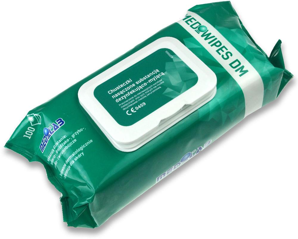 Medilab MEDIWIPES DM-100szt. flow pack Chusteczki do dezynfekcji oraz mycia delikatnych małych powierzchni