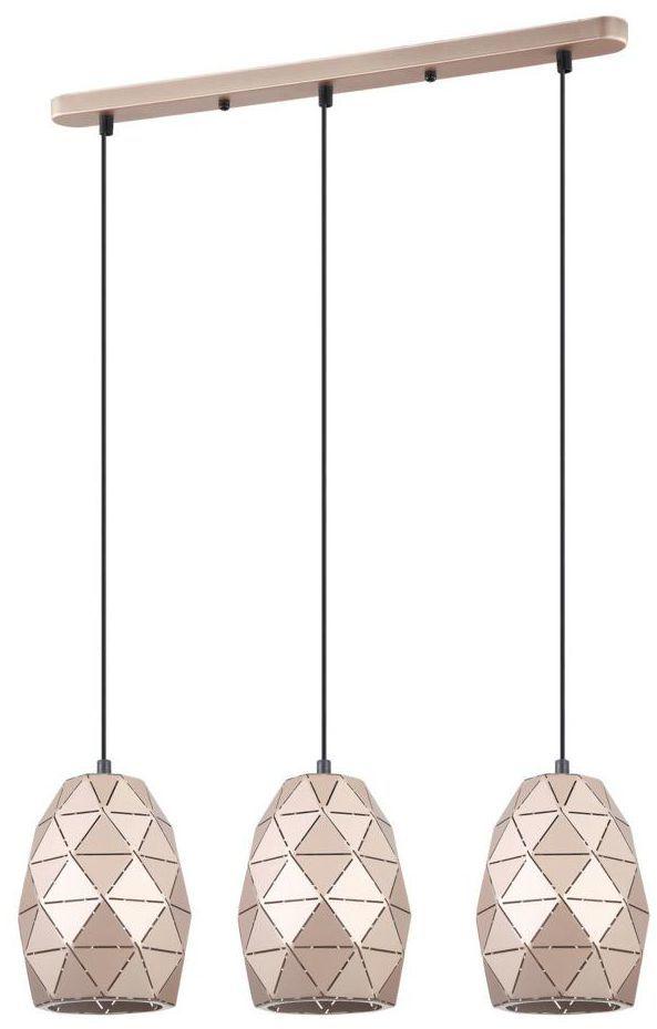 Lampa wisząca HARLEY miedziana 3 x E27 ITALUX