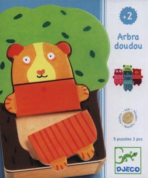 Djeco - Drewniane Puzzle Drzewo Milusińskich Dj01681