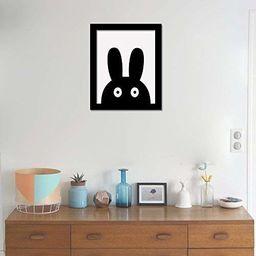 WALPLUS królik sztuka płótno nadruk naklejka ścienna, winyl, wielokolorowa, 40 x 30 x 5 cm