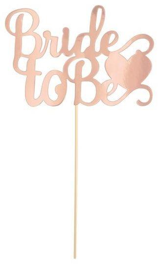 Topper na Wieczór Panieński Bride to Be rosegold 1 sztuka 512103