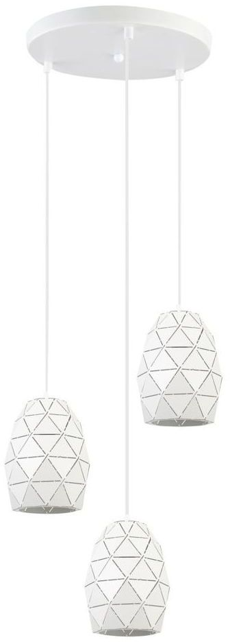 Lampa wisząca HARLEY biała 3 x E27 ITALUX