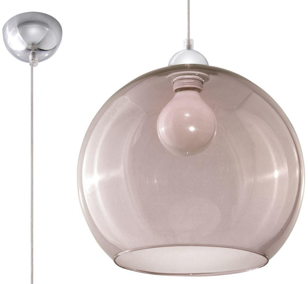 Szklana lampa wisząca LED E830-Bals - grafit