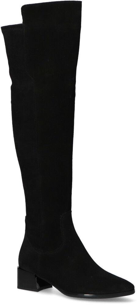 Kozaki Gamis 4050 Czarne zamsz+laycra