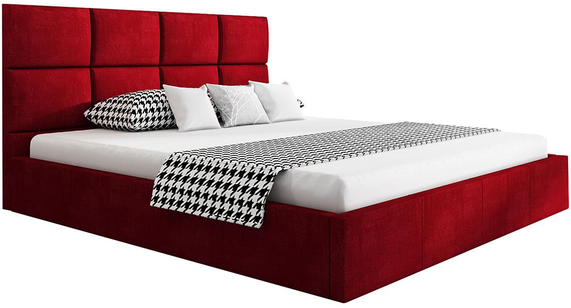 Tapicerowane łóżko dwuosobowe 140x200 Nikos 3X - 48 kolorów
