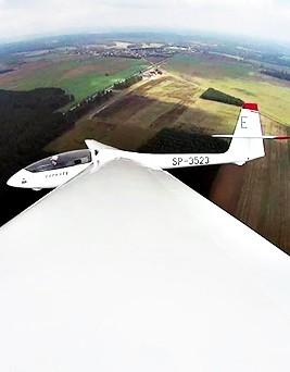 Lot szybowcem za samolotem  Elbląg