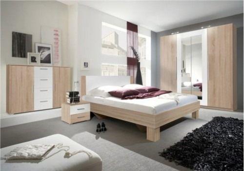 Zestaw do sypialni vera - dąb sonoma jasny/biały