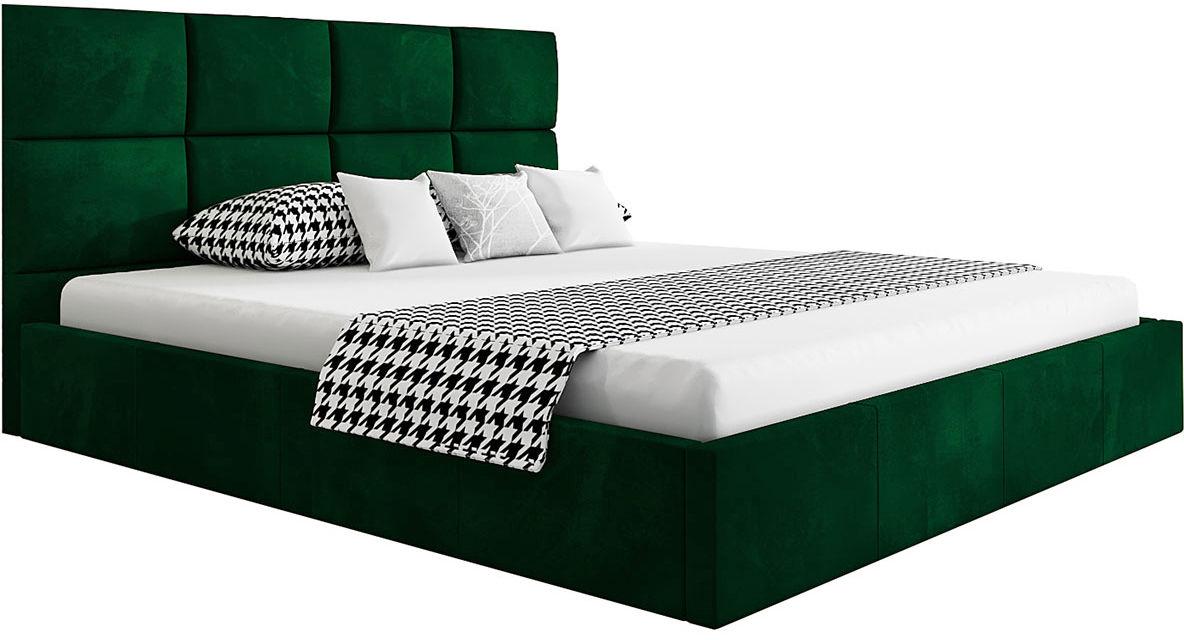 Małżeńskie łóżko ze stelażem 160x200 Nikos 2X - 48 kolorów