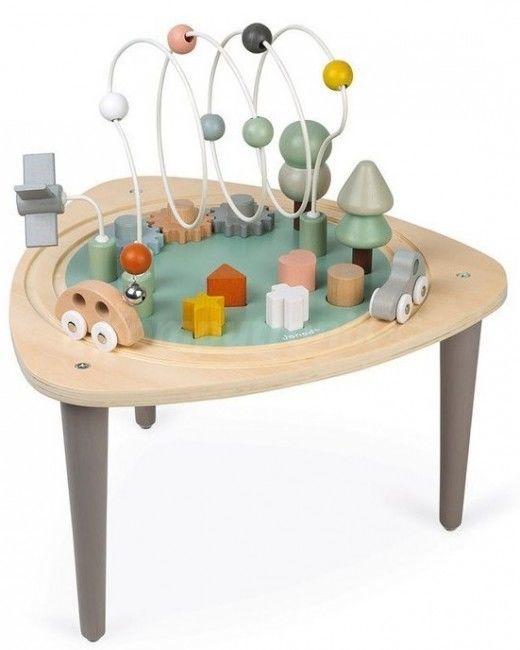 Janod Wielofunkcyjny stolik edukacyjny drewniany Sweet Cocoon