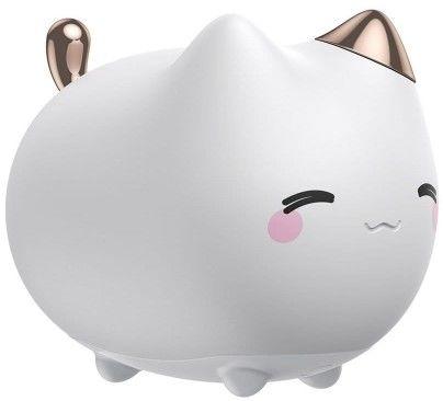Baseus Cute Series Sylikonowa lampka nocna kotek dla dzieci bezprzewodowa LED RGB 3 tryby