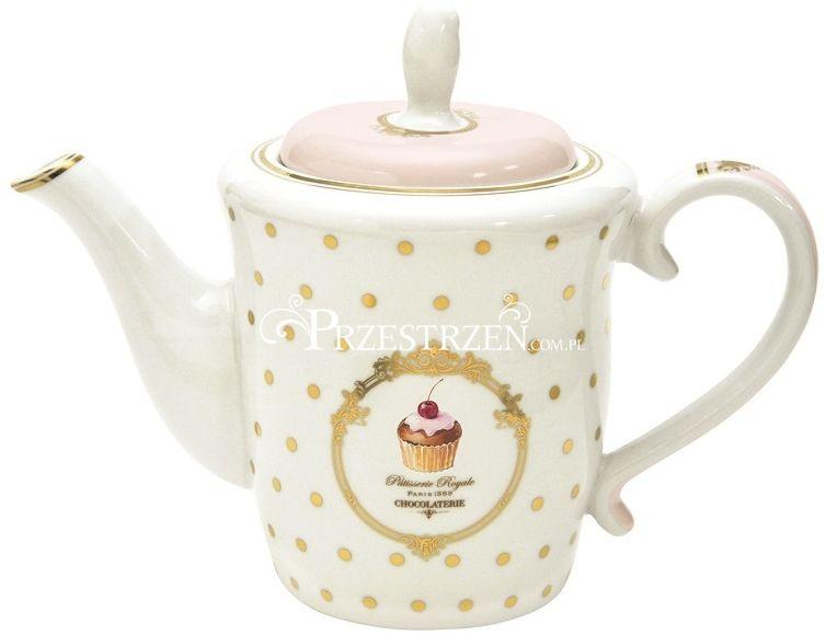 PORCELANOWY IMBRYK DO HERBATY - ELEGANCE Cupcakes (1108 DOC)