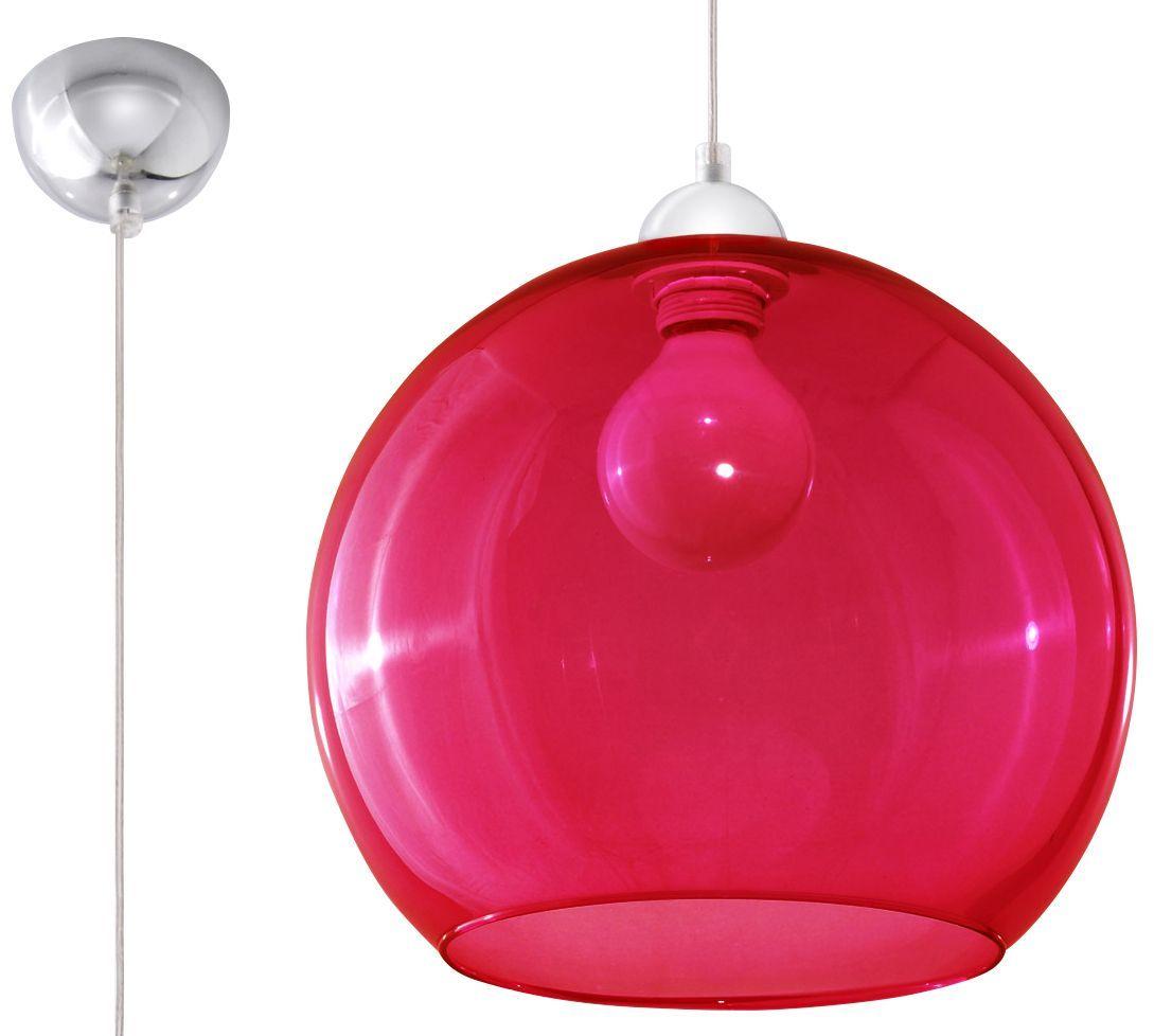 Kuchenna lampa wisząca kula E830-Bals - czerwony