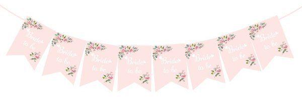 Baner na Wieczór Panieński Bride to Be różowy 250cm 1 sztuka 511835