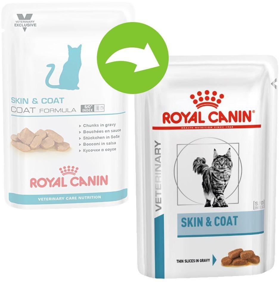 Royal Canin Veterinary Care Nutrition Feline Skin & Coat saszetka 85g Royal Canin Linia Weterynaryjna DLA ZAMÓWIEŃ + 99zł GRATIS!