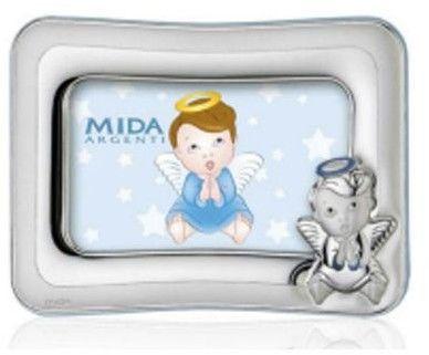 Ramka na zdjęcie aniołek Rozmiar: 9x13 cm Kolor: Niebieski SKU: M160162-19