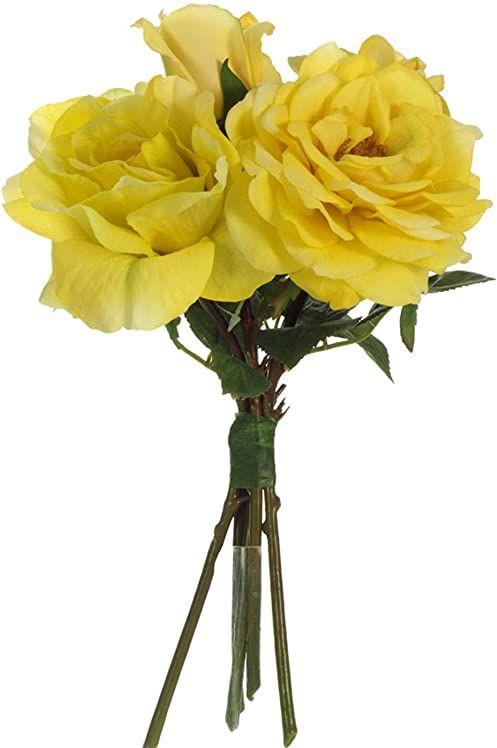 6 sztucznych kwiatów róży