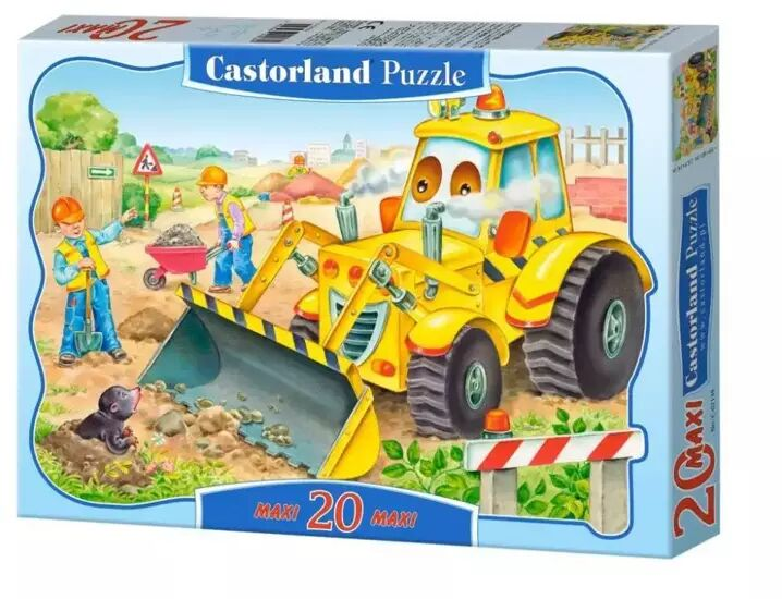 Puzzle 20 maxi - Spychacz CASTOR - Castorland