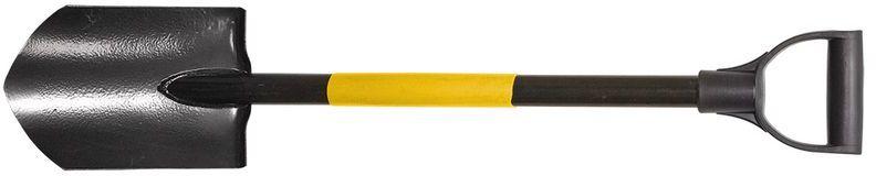 Szpadel ostry krótki (saperka) metalowy trzonek plastikowy uchwyt 15A055