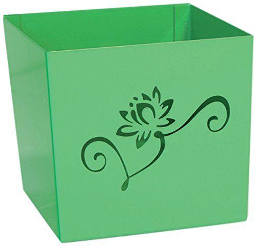 Alubox Kalì osłonka na doniczkę, stal nowoczesna 13x13x12 cm zielona