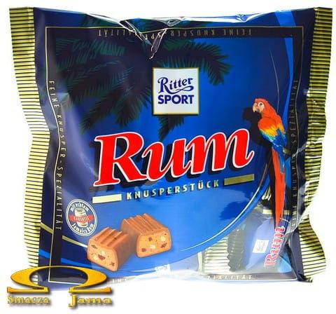 Duża paczka batoników Ritter Sport - czekoladki rumowe 200g