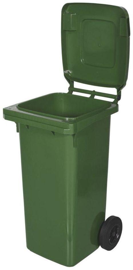 Kosz na śmieci 120 l zielony na odpady szklane