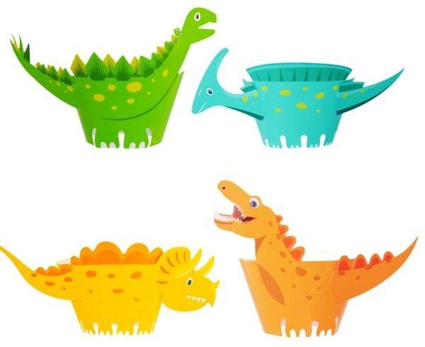 Foremka papierowa do babeczek papilotki dinozaury 8 sztuk 512300