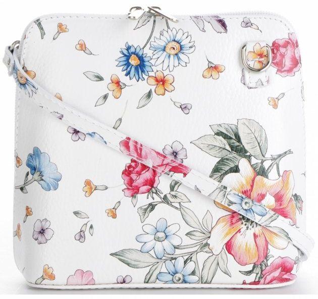 Torebki Skórzane Listonoszki renomowanej firmy VITTORIA GOTTI Białe Floral (kolory)