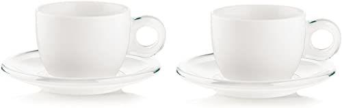 Fratelli Guzzini Gocce, 2 filiżanki do cappuccino ze spodkami, SMMA porcelana