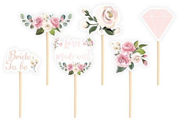 Pikery do babeczek Bride to be różowe 6 sztuk 511836