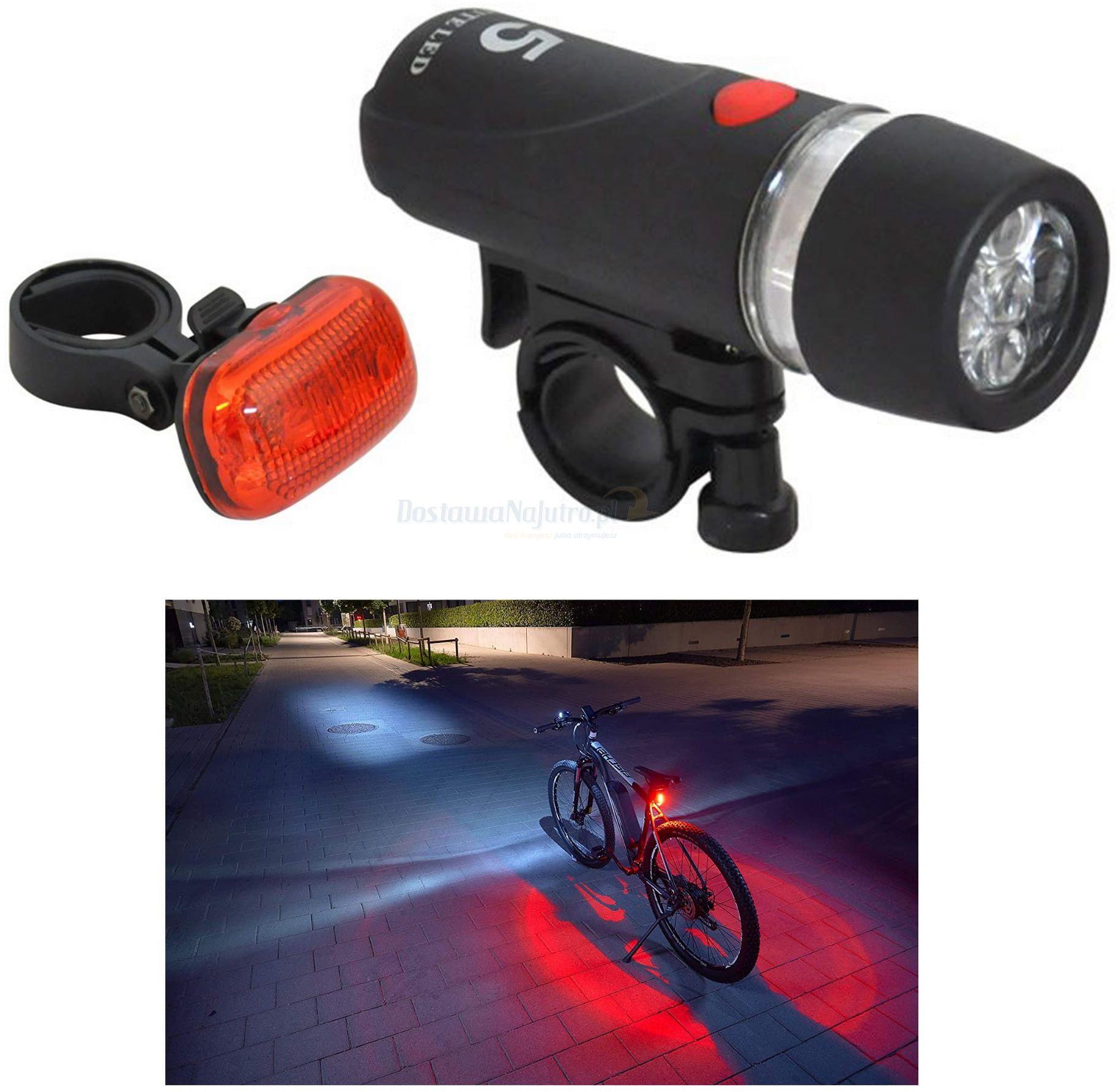 Oświetlenie rowerowe Axer przednia i tylna lampka LED