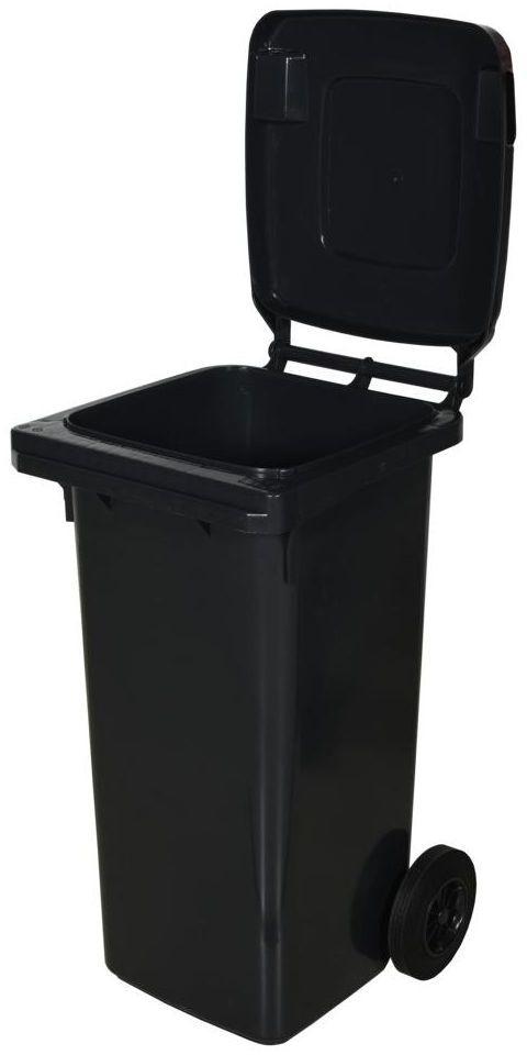 Kosz na śmieci 120 l szary na odpady zmieszane