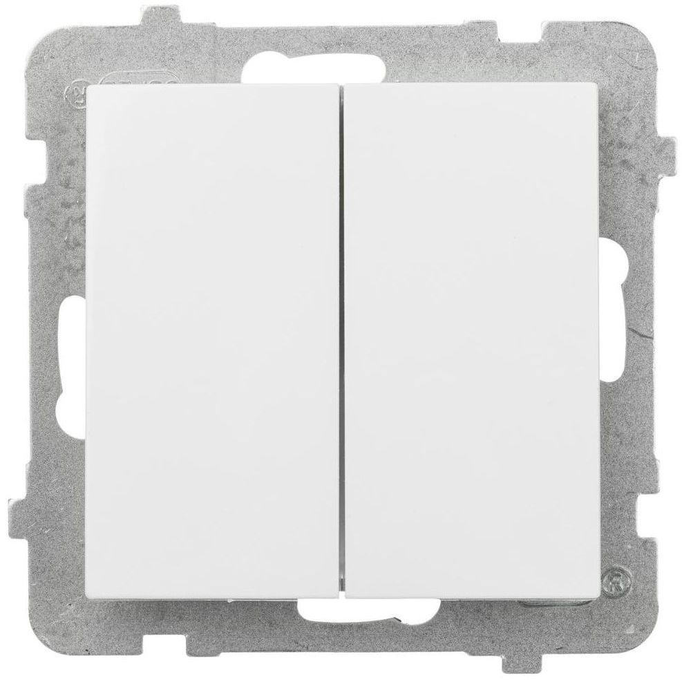 Włącznik podwójny AS Biały OSPEL