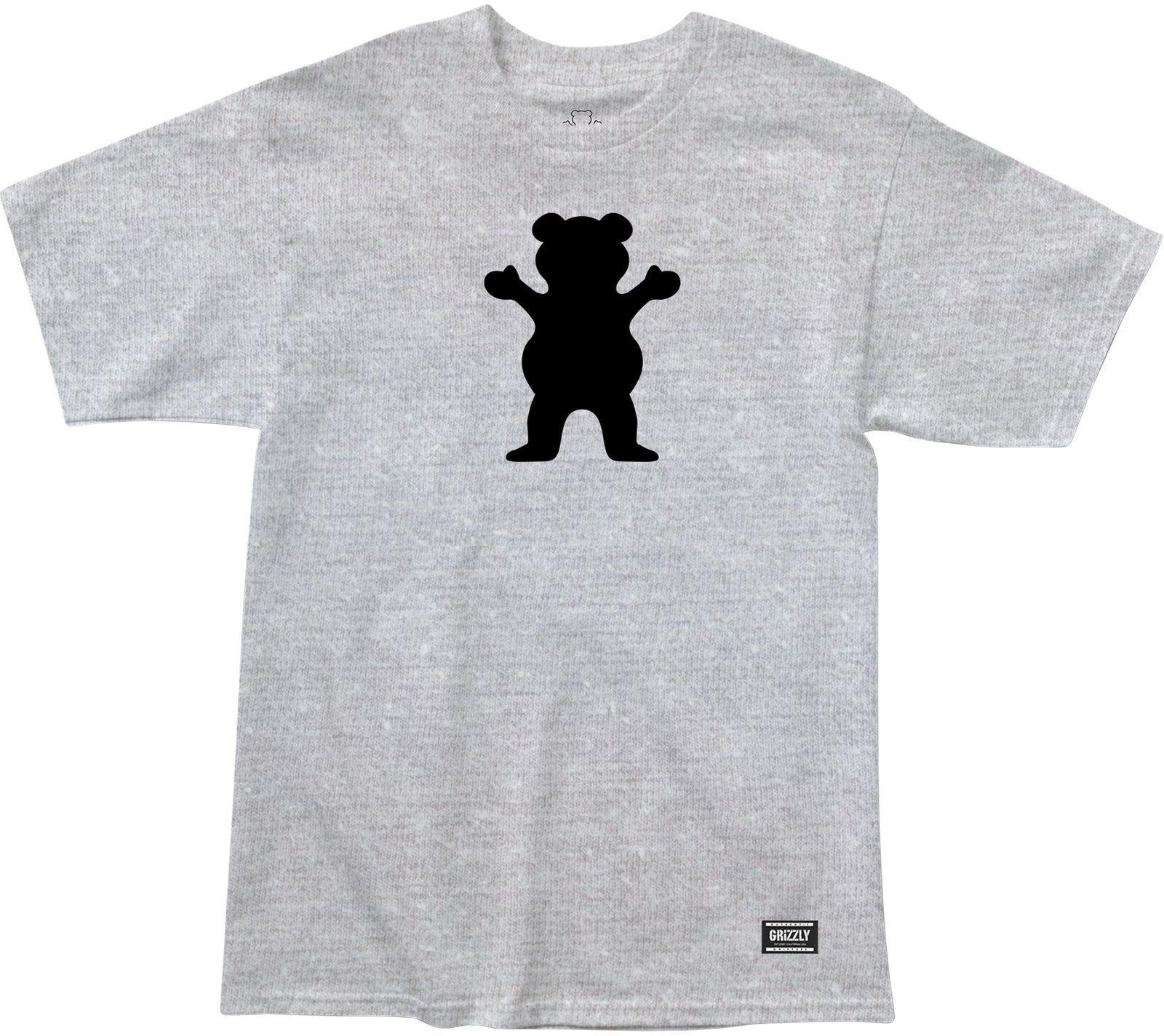 t-shirt męski GRIZZLY OG BEAR TEE Heather/Black