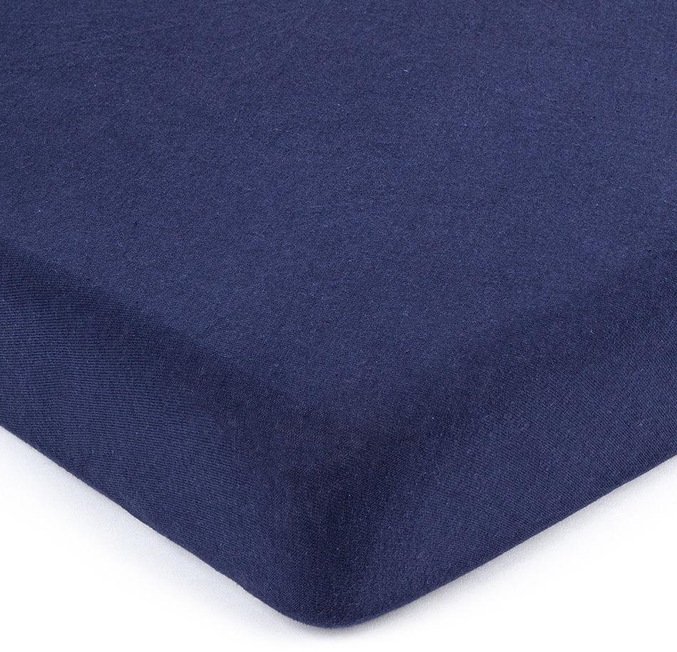 4Home jersey prześcieradło ciemnoniebieski, 90 x 200 cm, 90 x 200 cm