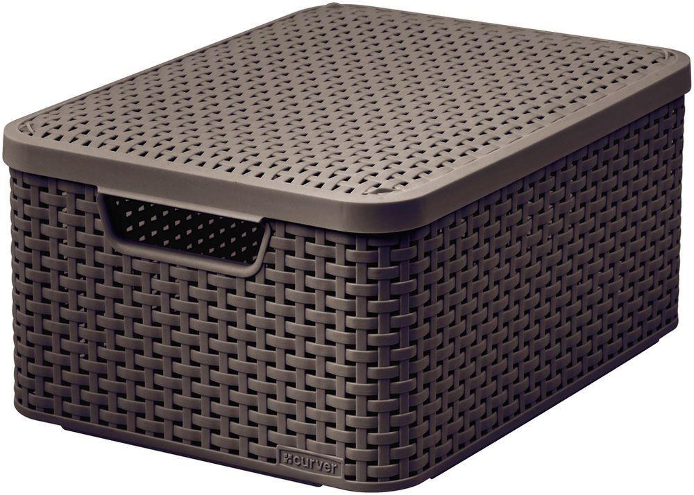 Pudełko z pokrywką - M - ciemne brązowa CURVER