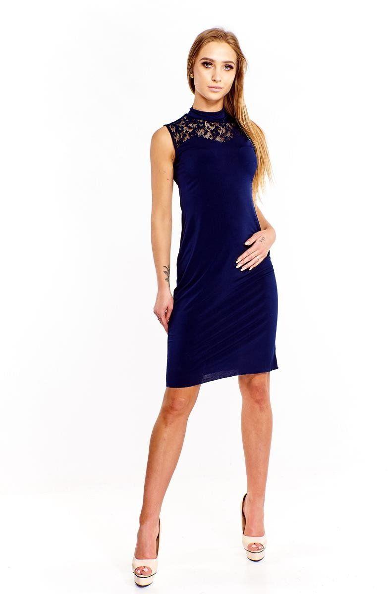 Sukienki Sukienka Suknie FSU652 GRANATOWY