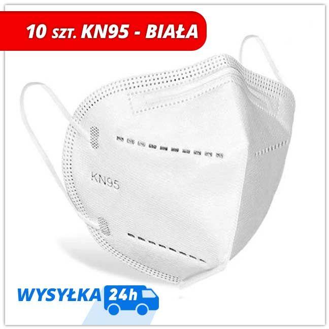 Maseczki KN95 Biała z drutem - 10 szt 3,2 zł szt.