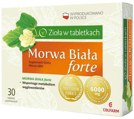 Morwa biała forte 30 tabletek