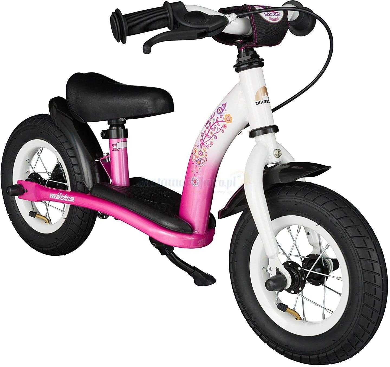 """Rowerek biegowy 10"""" NISKI od 2 lat BIKESTAR GERMANY classic pink flamingo"""