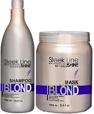 Stapiz Sleek Line Blond szampon 1L + maska 1L